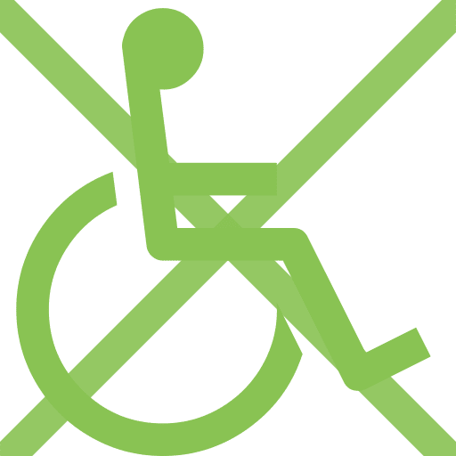 no wheel chair access image