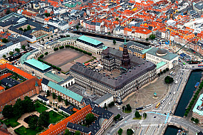 Christiansborg Palace from the air
