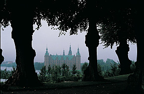 The palace on a misty day