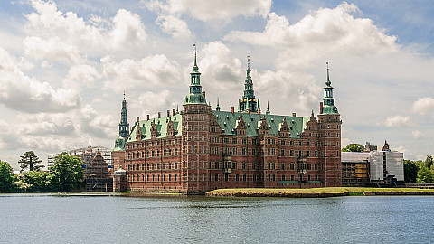 Frederiksborg Palace from the north