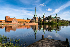 Frederiksborg Palace seen from town