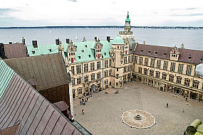 The courtyard seen from the cannon tower