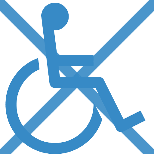 no wheel chair access